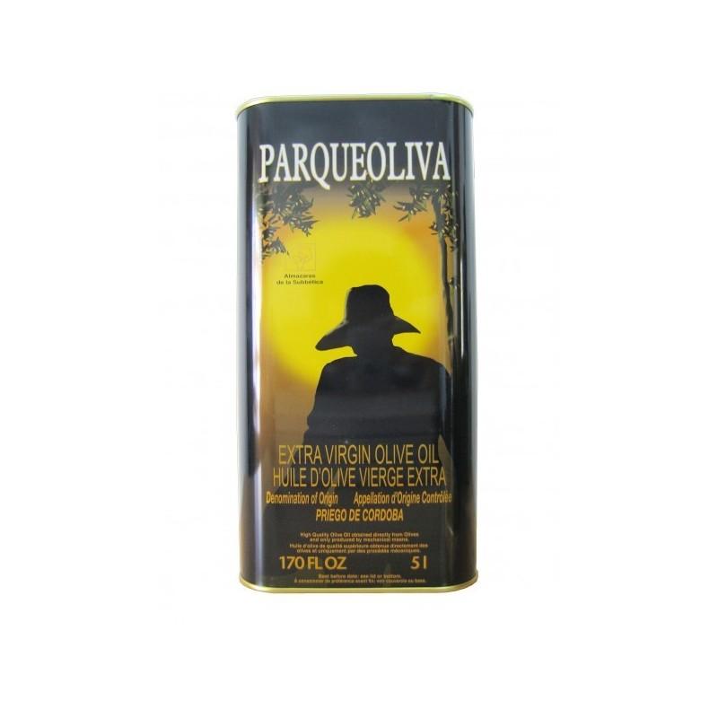 Huile d'olive AOC espagnole 5 litre bidon mètal Parqueoliva