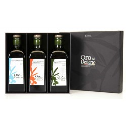Coffret cadeau huile d'olive bio haut de gamme Oro del Desierto