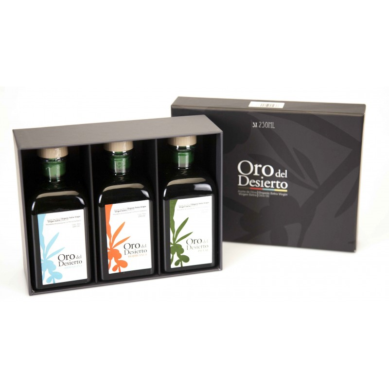 Coffret dégustation huile d'olive bio espagnole Oro del Desierto