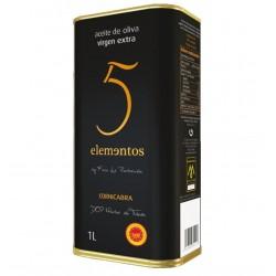 aceite de oliva virgen extra lata 1Litro 5 ELEMENTOS CORNICABRA