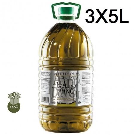 ACEITE OLIVA 3 GARRAFAS 5L LA ALDEA DE DON GIL