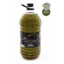 高级特级初榨橄榄油。 3X5L HACIENDA EL PALO PREMIUM