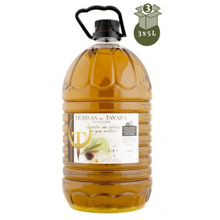 3 garrafas Aceite de Oliva 5L Tierras de Tavara