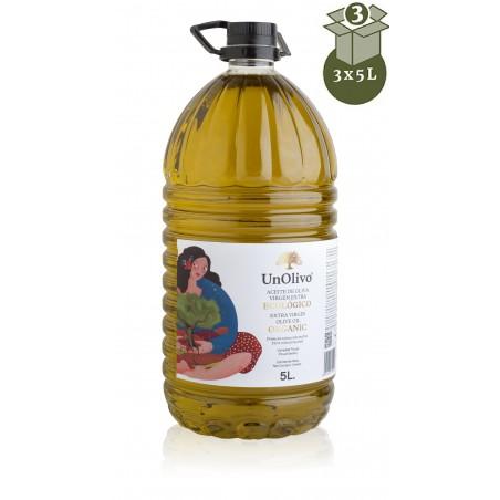 ORGANIC OLIVE OIL 3X5L UN OLIVO