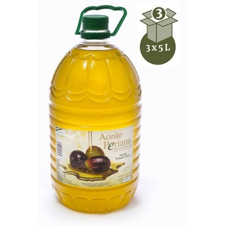HUILE D'OLIVE VIERGE EXTRA 3X5l PERIANA