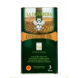 Aceite de Oliva Virgen Extra cornicabra, lata 3 litros