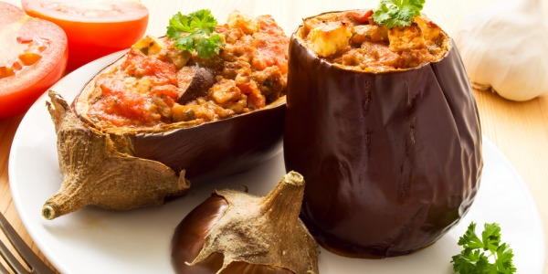 AUBERGINES  STUFFED WITH RATATOUILLE AND BEEF